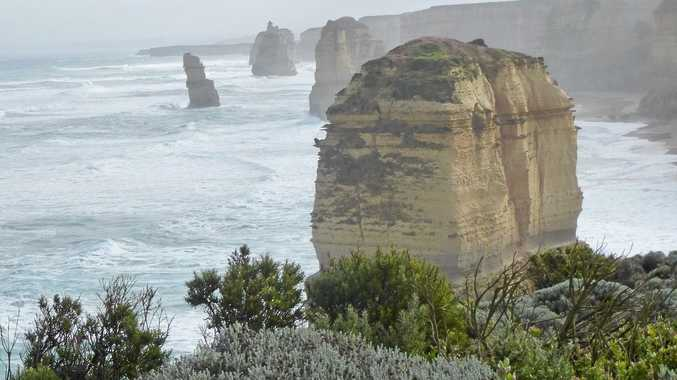 NATURE AT WORK: Part of the 12 Apostles.