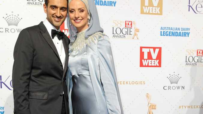 Waleed Aly and wife Susan Carland at the Logies