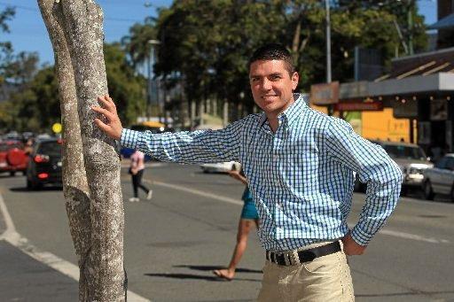 Nationals candidate for Richmond Matthew Fraser at Murwillumbah.