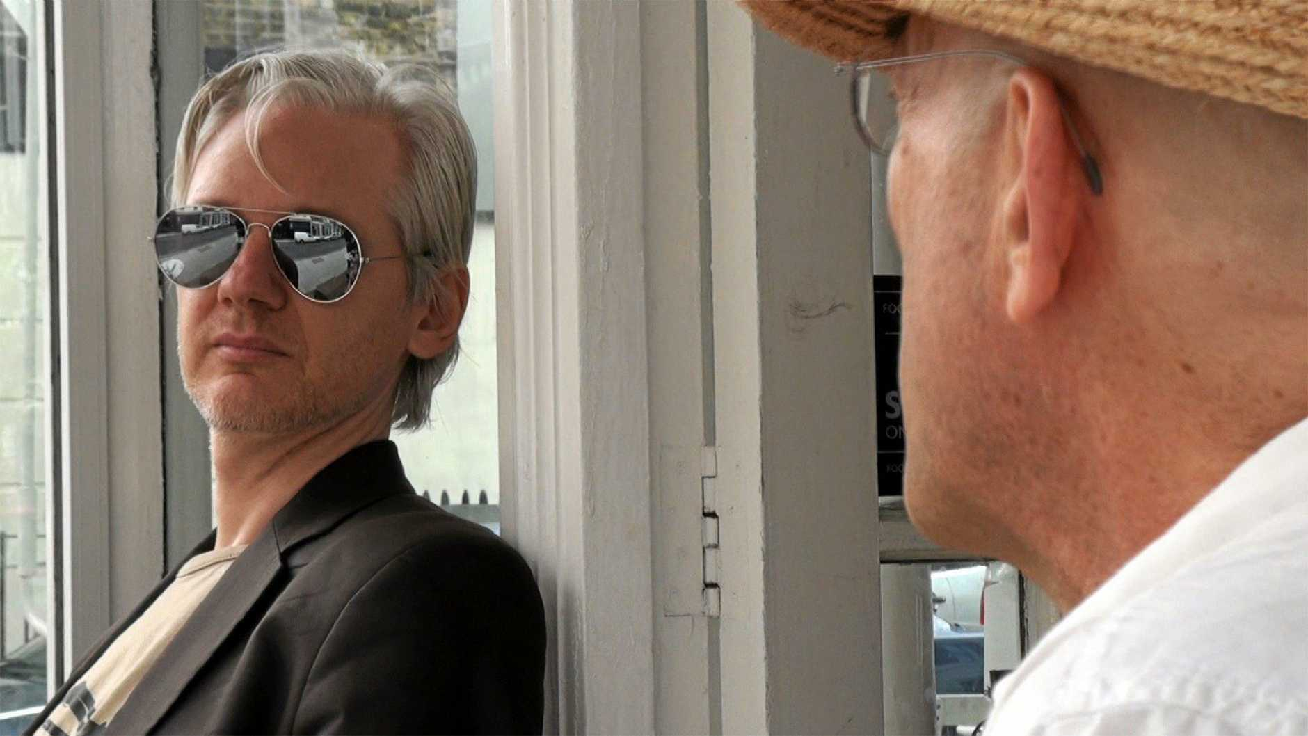 FOR REVIEW AND PREVIEW PURPOSES ONLY. Julian Assange in a scene from the movie We Steal Secrets: The Story of WikiLeaks. Supplied by UPI media website. Please credit photo to Focus World.