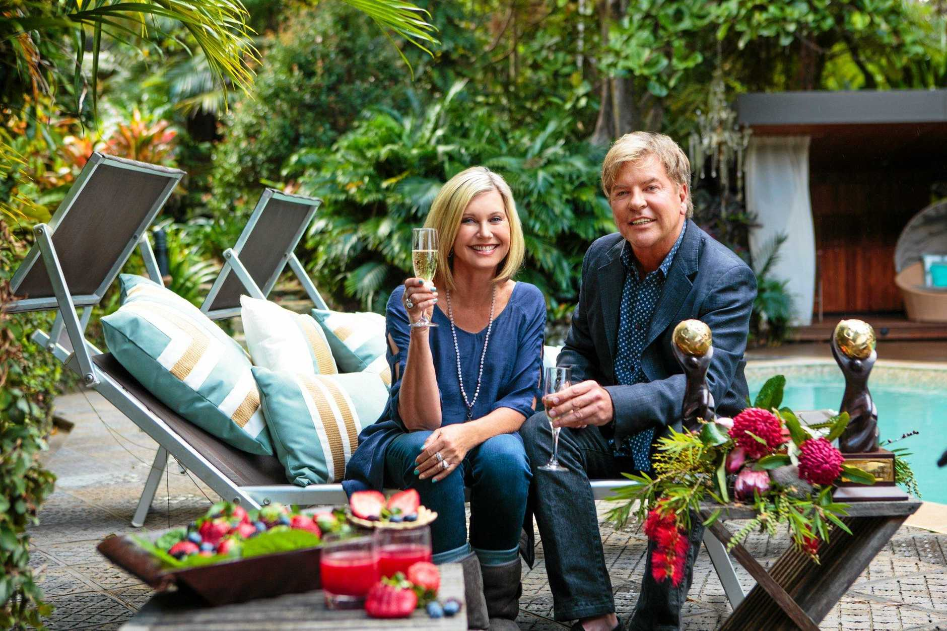 WORLD'S BEST: Olivia Newton-John and Gregg Cave celebrate Gaia Retreat & Spa being named World's Best Day Spa as well as the Retreat's 10th anniversary. Photo Contributed