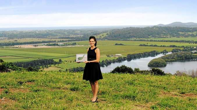 Sales agent Sophie Carter at the new Vista site in Terranora.