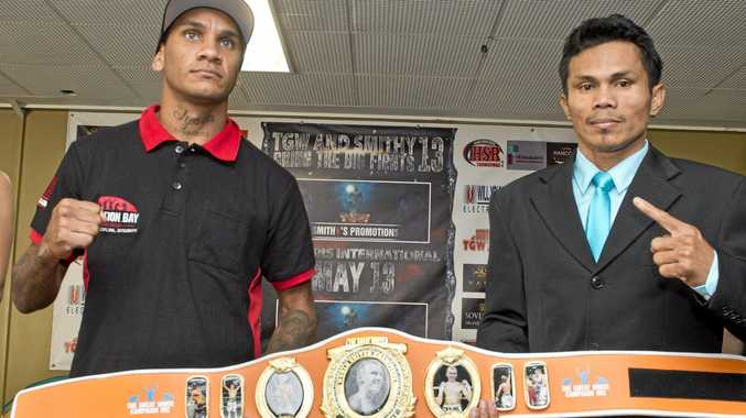 FIGHT FOES: Waylon Law and Jack Asis will fight for the first Brayd Smith World United Championship at Rumours International on Friday night.