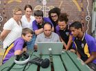 TELLING STORIES: Creative Regions Sahsha Mackay (second left) has partnered with UnitingCare Community and  filmmakers Luke Barrowcliffe (centre) and Jenni Chew (left) to teach indigenous students Robert McCormack, Dakota Cogzell, Jake Watson, Tamika Morrice and Josiah Purcell the power of film through a unique project.