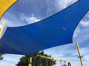 Vandals target playrounds, damage shade sail and see-saw