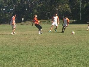 Pacific Jewel crew take on Gladstone soccer club