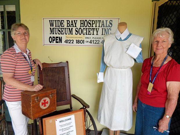 Dedicated volunteers of the Wide Bay Hospitals Museum Society including Marilyn Jensen (left) and Dell York will open the doors for their 25th anniversary celebrations.   Photo Boni Holmes / Maryborough Herald
