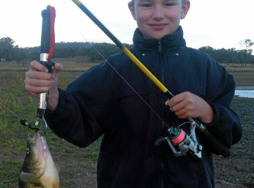 WINNER OF FISH OF THE WEEK. Wyatt Fretwell landed this lovely Golden Perch at Connolly Dam recently.