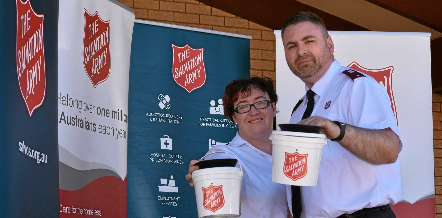 Warwick Salvation Army Lieutenants Lydia and Steve Spencer are encouraging people to dig deep for the Red Shield Appeal.