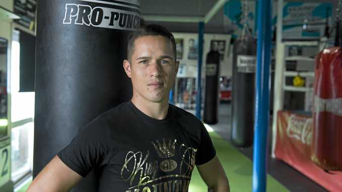 BOWING OUT: Toowoomba boxer Will Young prepares for his fight fight.