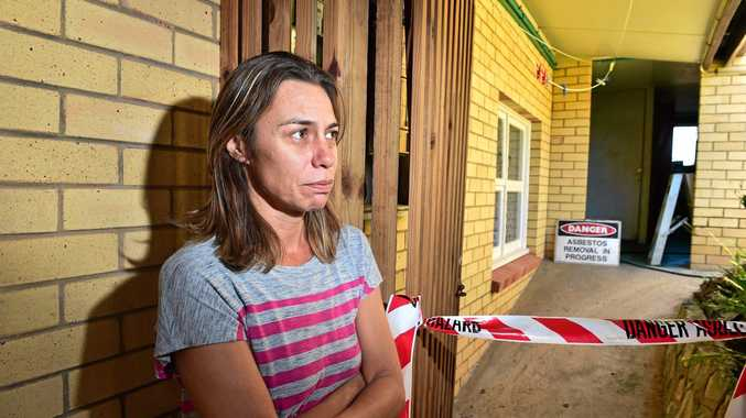 COOLUM resident Teana Sanson will leave her Point Perry unit today after demolition work started around her on Wednesday. a Workplace Health and Safety investigation is underway