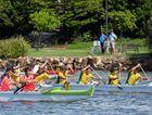 JUNIOR SPORT: Outrigging, Va'a World Sprint Championships, Elite Junior Men. Lake Kawana, May 8, 2016.