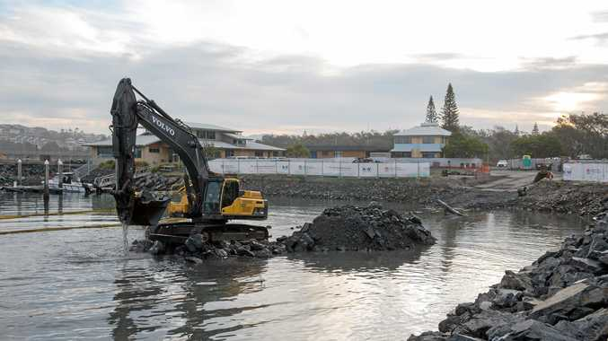 CLEAR UP: The next stage of works at Coffs Harbour Slipway begins next week.