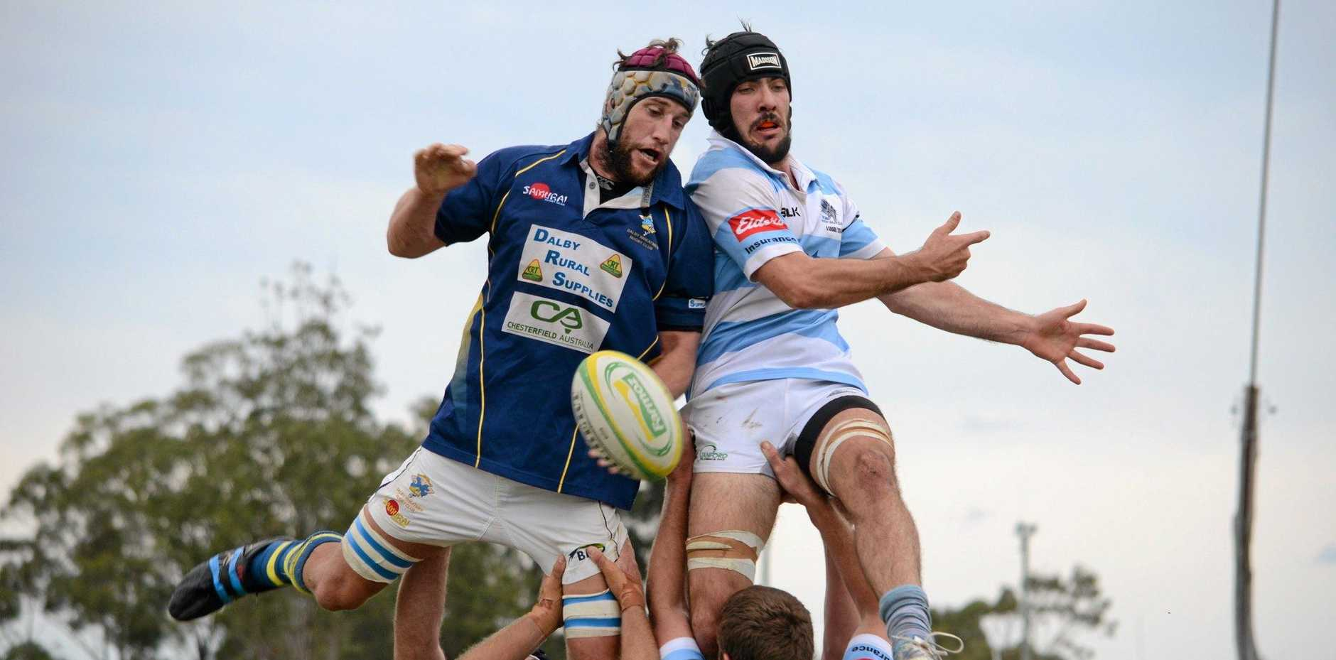 FLYING HIGH: The Dalby Wheatmen and Roma Echidnas will face off this weekend for Old Boys Day.