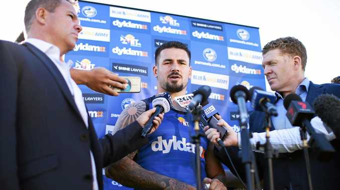 CENTRE OF ATTENTION: Nathan Peats speaks to the media in Sydney this week.