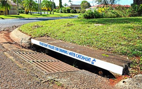 The new stencils being placed on stormwater lintels throughout the Lismore urban area.