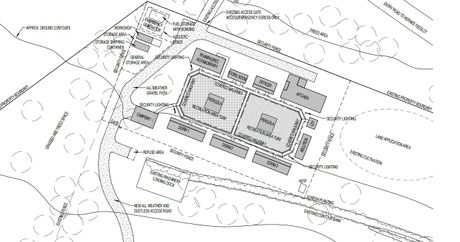An overview of the detention facility.