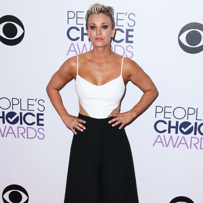 Kaley Cuoco says she was star struck meeting Jennifer Aniston.