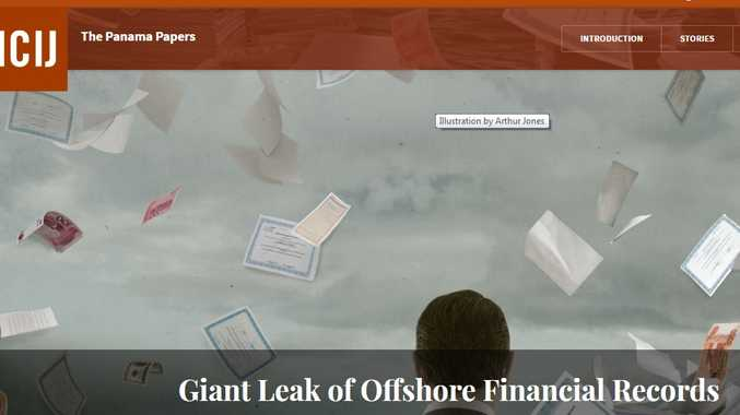 The website names one Gladstone addresses links to the Panama Papers