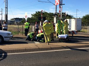 VIDEO: Boy treated for cut to head after being hit by car
