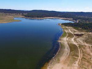 Leslie Dam drone footage