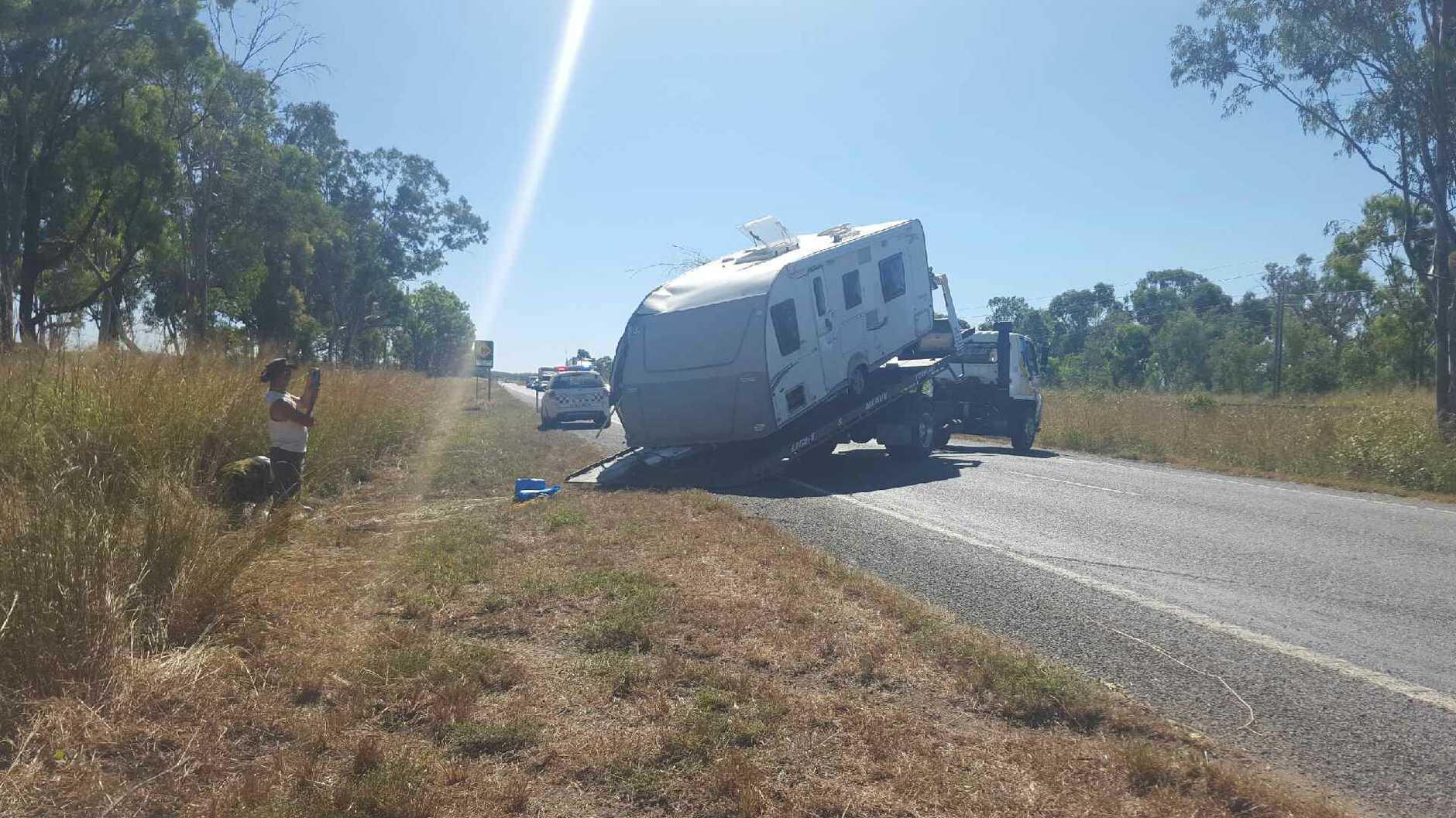Caravan crash on the Bruce Highway.