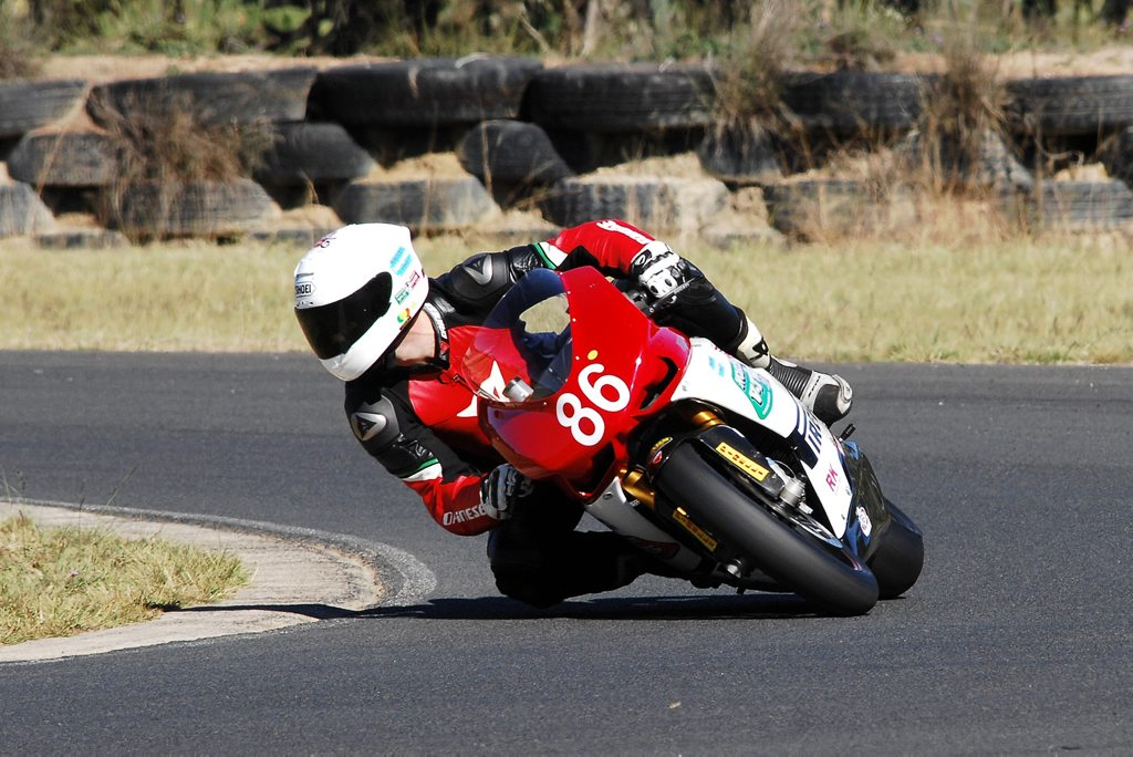 Beau Beaton will be at Morgan Park Raceway this weekend trying to regain the lap record for motorcycles. Photo Osella Photographics