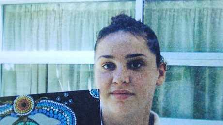 Missing Grafton girl Jasmine Morris, 20, aka Jasmine Moore, pictured here at a Sydney school she attended for a short time. She was last seen leaving her mum's house in Chapman Street, Grafton on October 8.