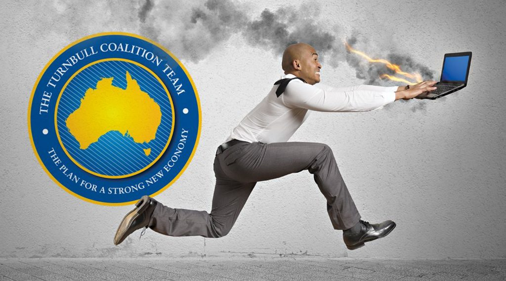 Strange Politics: The Turnbull Coalition Team needs to lift its game when it comes to sneaky cyber-squatting.