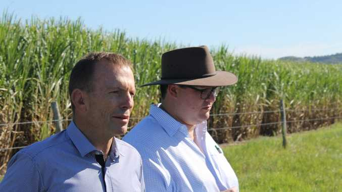 Tony Abbott with George Christensen in Mackay. FILE