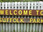 SUFFOLK PARK: The sign says it all.