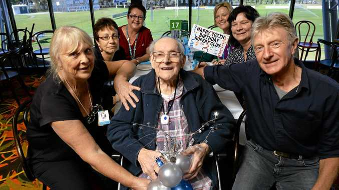 BIRTHDAY BOY: Rupert Cliff celebrated his 107th birthday with family and friends at Brothers Leagues Club.