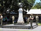 Remembrance Day in Hervey Bay - Freedom Park cenotaph. Photo: Alistair Brightman / Fraser Coast Chronicle