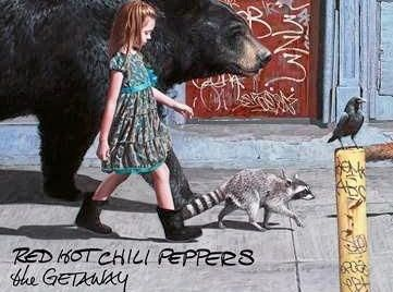 Artwork for the 2016 album The Getaway by the Red Hot Chilli Peppers.
