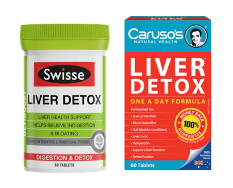 Some popular liver detox brands.