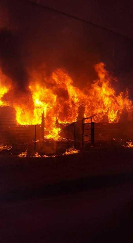 The fire at Warren Thatcher's home.