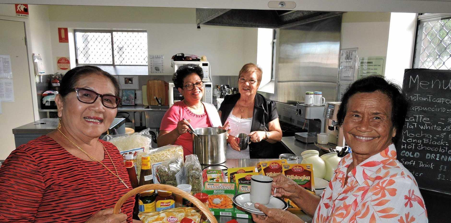 HELP WITH MOVE: Seniors Asian Women's Development Program members (from left) Fe Linortner, Julie Leck, Ramona Zanger and Rory Proctor   at   Maryborough Neighbourhood Centre.