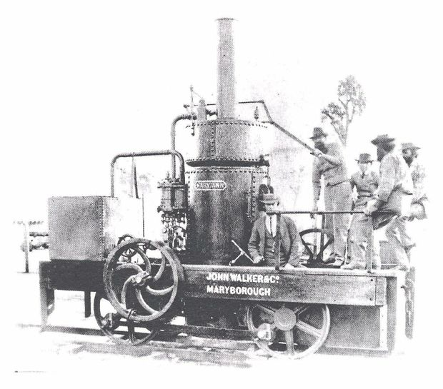 LEADERS IN THE FIELD: The original Mary Ann steam locomotive which was replicated by the Olds Company in 2000.