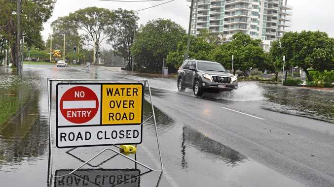 Wild weather: Flooded roads, Cotton Tree Esplanade. February 21, 2015. Photo Patrick Woods / Sunshine Coast Daily