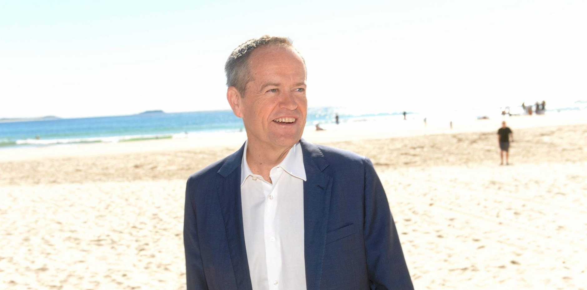 Opposition leader Bill Shorten in Kingscliff on Sunday, May 15, 2016.