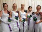 Samantha Brodie, Emily Ryan, Hannah Briggs, Autumn Taylor and Kathleen Keogh at the Caledonian Debutante Ball at  St Mary's Hall on Saturday, May 14.
