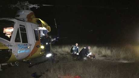 A teenager was airlifted to the PA Hospital after a rollover at Lower Mount Walker.