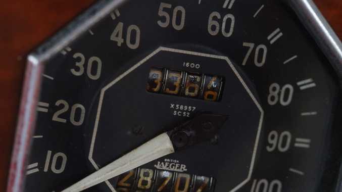 Frank Carroll's 1951 MG YA speedometer Photo: Iain Curry / Sunshine Coast Daily