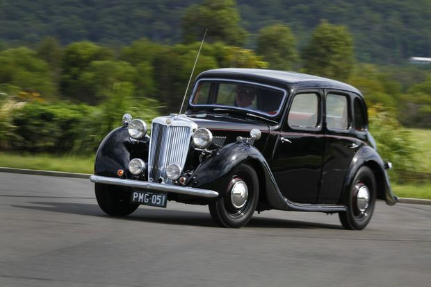 CLASSIC LINES: Delightful 1951 MG YA Saloon is a reasonably simple car to drive with synchro gearbox and a comfortable ride ideal for cruising.