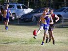 Jason Bethune plays for Across the Waves (ATW) against Hervey Bay Bombers on Saturday. Photo: Jocelyn Watts / Fraser Coast Chronicle