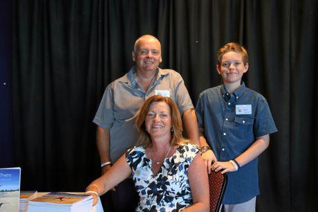 Shelagh Brennand with husband David and son Patrick.