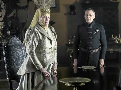 Diana Rigg and Ian Gelder in a scene from season six episode four of Game of Thrones.