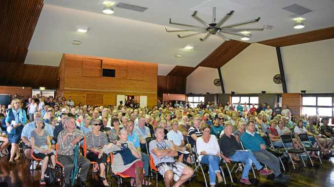 The Coolum Civic Centre was filled with residents during a community information session for an earlier Sekisui House proposal for its 19ha Yaroomba site. Photo: Stuart Cumming / Sunshine Coast Daily
