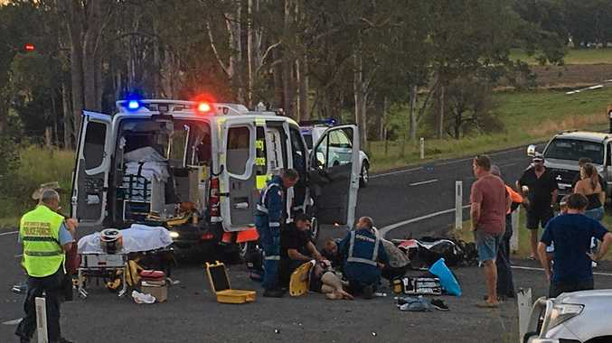 THE Westpac Life Saver Rescue Helicopter was tasked to a motorcycle accident South of Kyogle on the Summerland Way on Sunday afternoon.