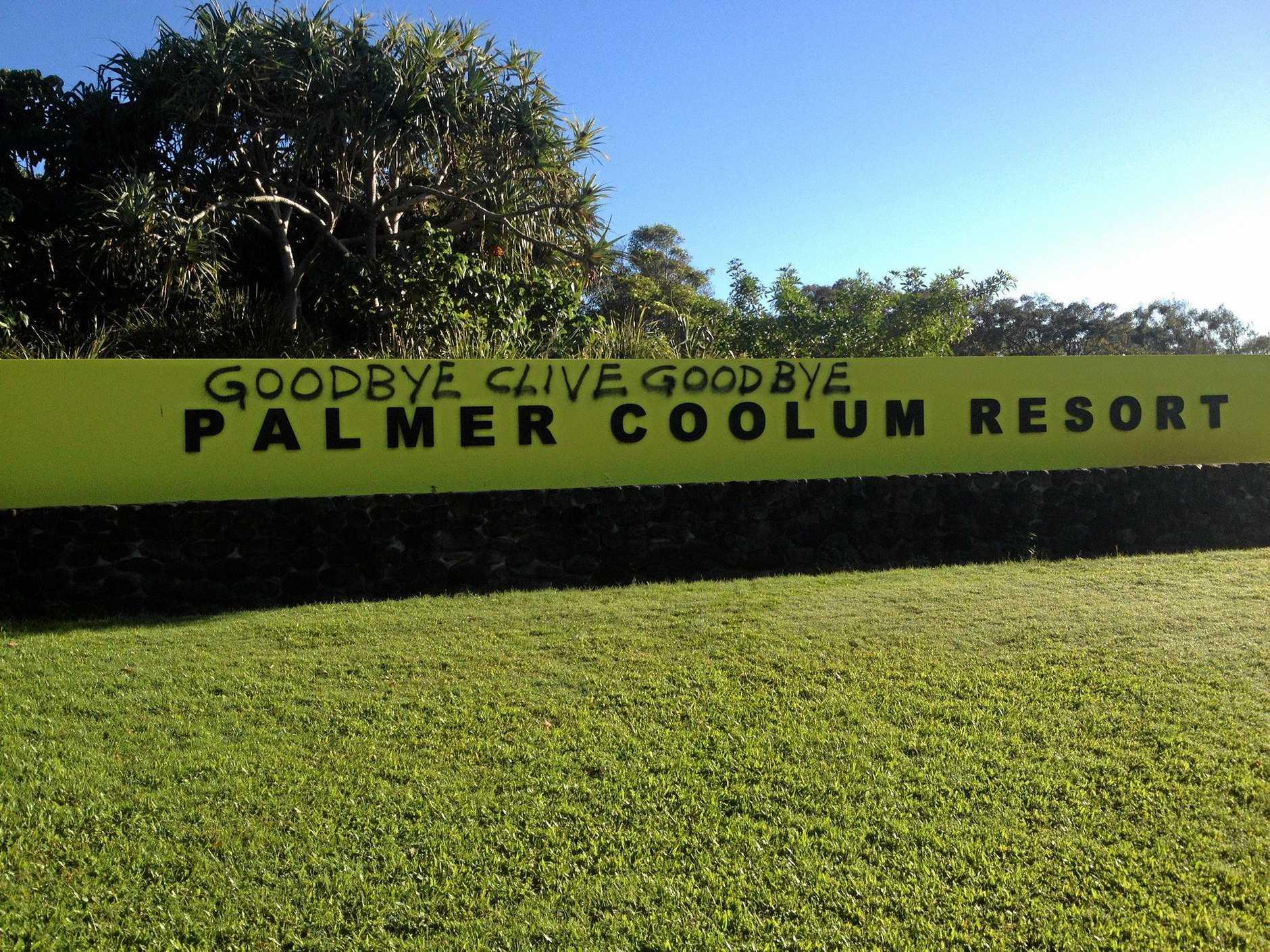 Goodbye Clive goodbye': Graffiti sends message to Palmer